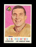 1959 Topps Football Card #84 Hall of Famer Les Richter Los Angeles Rams.