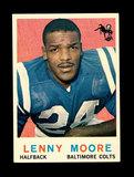 1959 Topps Football Card #100 Hall of Famer Lenny Moore  Baltimorer Colts.