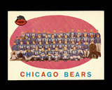 1959 Topps Football Card #104 Chicago Bears Team/Checklist First Series 1-8