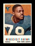 1959 Topps Football Card #114 Hall of Famer Roosevelt Brown New York Giants