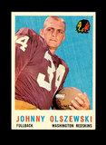 1959 Topps Football Card #115 Johnny Olszewski Washington Redskins.