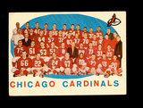 1959 Topps Football Card #118 Chicago Cardinals Team/Checklist Second Serie