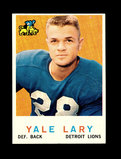 1959 Topps Football Card #131 Hall of Famer Yale Lary Detroit Lions.