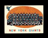 1959 Topps Football Card #133 New York Giants Team/Checklist Second Series