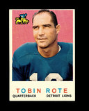 1959 Topps Football Card #170 Tobin Rote Detroit Lions.
