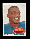 1960 Topps Football Card #3 Hall of Famer Lenny Moore Baltimore Colts.
