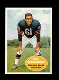 1960 Topps Football Card #18 Hall of Famer Bill George Chicago Bears.