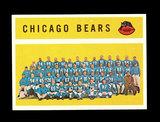 1960 Topps Football Card #21 Chicago Bears Team/Checklist First Series 1-66