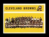 1960 Topps Football Card #31 Cleveland Browns Team/Checklist First Series 1