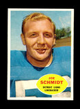 1960 Topps Football Card #46 Hall of Famer Joe Schmidt Detroit Lions.