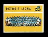 1960 Topps Football Card #50 Detroit Lions Team/Checklist First Series 1-66