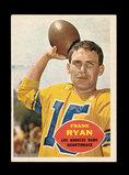 1960 Topps ROOKIE Football Card #62 Rookie Frank Ryan Los Angeles Rams.