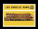1960 Topps Football Card #71 Los Angeles Rams Team/Checklist First Series 1