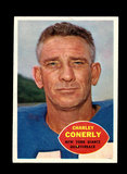 1960 Topps Football Card #72 Charley Conerly New York Giants.