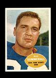 1960 Topps Football Card #77 Pat Summerall New York Giants.