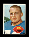 1960 Topps Football Card #80 Hall of Famer Sam Huff New York Giants.