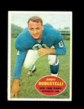 1960 Topps Football Card #81 Hall of Famer Andy Robustelli New York Giants.