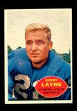 1960 Topps Football Card #93 Hall of Famer Bobby Layne Pittsburgh Steelers.