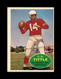1960 Topps Football Card #113 Hall of Famer Y.A. Tittle San Francisco 49ers