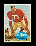 1960 Topps Football Card #121 Hall of Famer Leo Nomellini San Francisco 49e