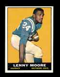 1961 Topps Football Card #2 Hall of Famer Lenny Moore Baltimore Colts.
