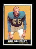 1961 Topps Football Card #36 Hall of Famer Joe Schmidt Detroit Lions.
