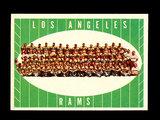 1961 Topps Football Card #56 Los Angeles Rams Team Card.