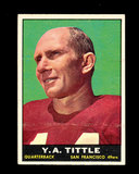 1961 Topps Football Card #58 Hall of Famer Y.A. Tittle San Francisco 49ers.