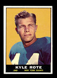 1961 Topps Football Card #87 Kyle Rote New York Giants.