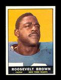 1961 Topps Football Card #88 Hall of Famer Roosevlt Brown New York Giants.