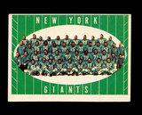 1961 Topps Football Card #93 New York Giants Team Card.