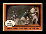 1961 Topps Football Card #94 Highlights Charlie Conerly New York Giants In