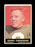 1961 Topps Football Card #95 Hall of Famer Sonny Jurgenson Philadelphia Eag
