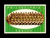 1961 Topps Football Card #103 Philadelphia Eagles Team Card.
