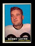 1961 Topps Football Card #104 Hall of Famer Bobby Layne Pittsburgh Steelers