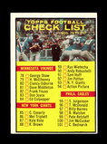 1961 Topps Football Card #122 Checklist 78-132. Unchecked Condition.