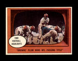 1961 Topps Football Card #132 Highlights Milt Plum Cleveland Browns In Acti