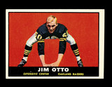1961 Topps ROOKIE Football Card #182 Rookie Hall of Famer Jim Otto Oakland