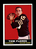 1961 Topps ROOKIE Football Card #186 Rookie Tom Flores Oakland Raiders.