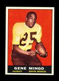 1961 Topps ROOKIE Football Card #194 Rookie Gene Mingo Denver Broncos.