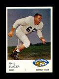 1961 Fleer Football Card #139 Phil Blazer Buffalo Bills.