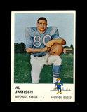 1961 Fleer Football Card #173 Al Jamison Houston Oilers.