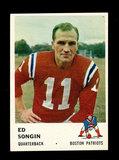 1961 Fleer Football Card #177 Ed Songin Boston Patriots.