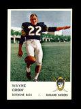 1961 Fleer Football Card #198 Wayne Crow Oakland Raiders.