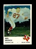 1961 Fleer Football Card #208 Mel Branch Dallas Texans.