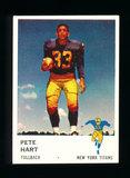 1961 Fleer Football Card #212 Pete Hart New York Titans.
