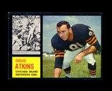 1962 Topps Football Card #21 Hall of Famer Doug Atkins Chicago Bears.