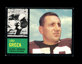 1962 Topps Football Card #32 Hall of Famer Lou Groza Cleveland Browns.