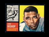 1962 Topps Football Card #46 Don Bishop Dallas Cowboys.