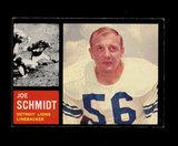 1962 Topps Football Card #59 Hall of Famer Joe Schmidt Detroit Lions.